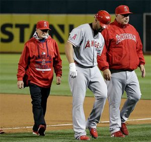 Alber Pujols, Playing throught foot pain, Plantar Fasciitis
