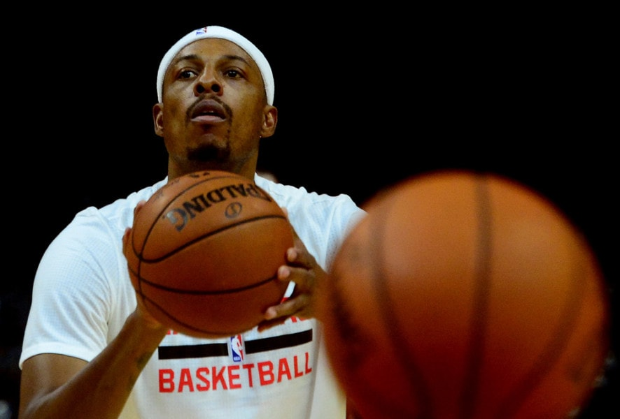 Ouch! Los Angeles Clippers' Paul Pierce Sprains Ankle Stepping on a Reporter's Foot