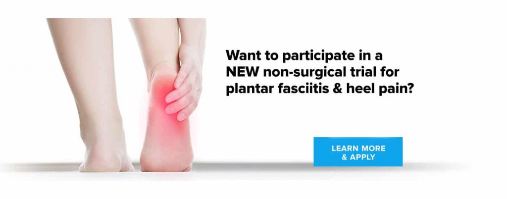Two Clinical Trials for Plantar Fasciitis and Chronic Heel Pain now at UFAI