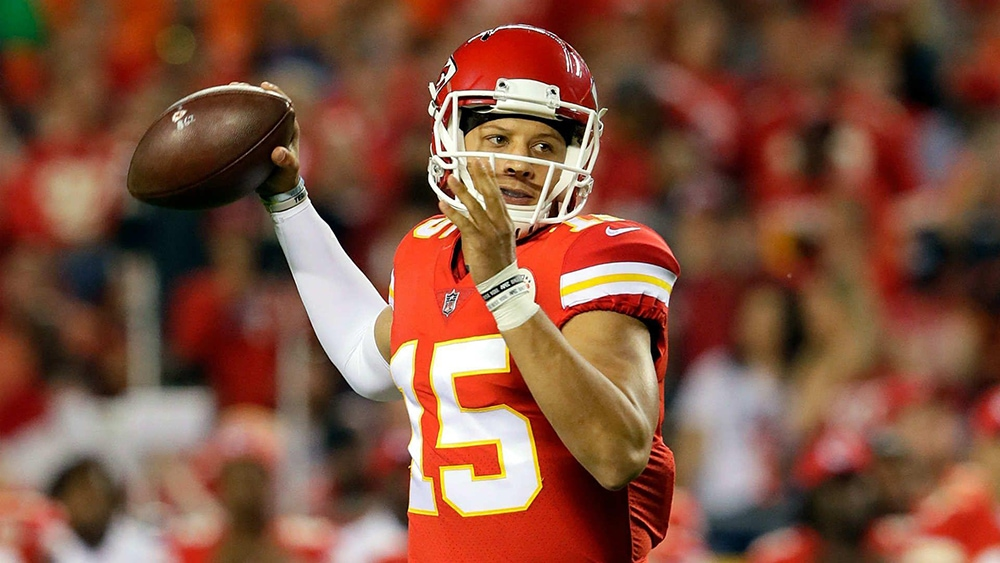 Patrick Mahomes - quarterback for Kansas City Chiefs - recovering from turf toe