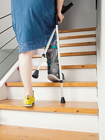 Avoid stairs while recovering from bunion surgery