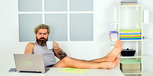 Being Barefoot While Working from Home Can Be Problematic