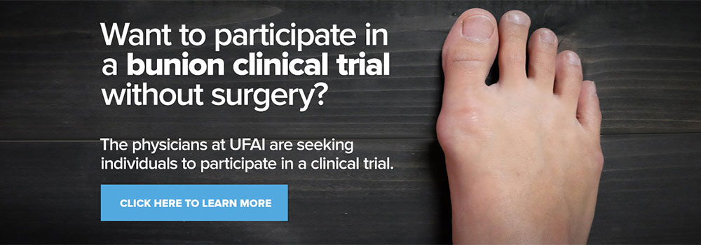 Bunion Clinical trial, UFAI