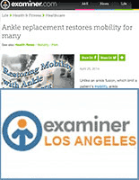 Ankle replacement restores mobility for many